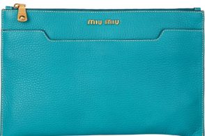 Miu Miu Grained Leather Clutch