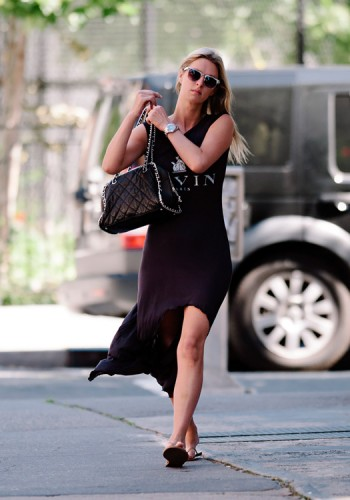 Nicky Hilton carries a Chanel Quilted Chain Strap Bowler Bag in LA (1)