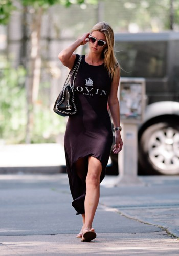 Nicky Hilton carries a Chanel Quilted Chain Strap Bowler Bag in LA (4)