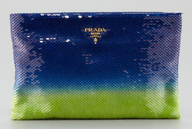 Prada Degrade Sequin Pouch Clutch