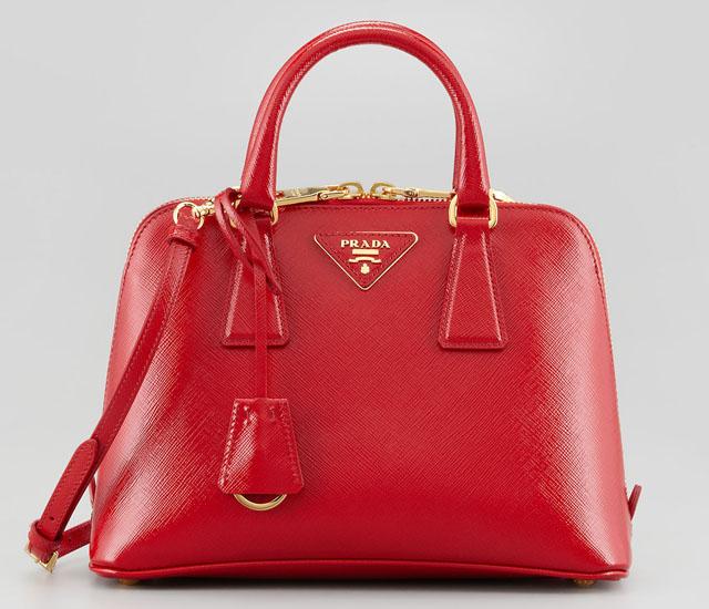 Prada Saffiano Vernice Promenade Crossbody Bag