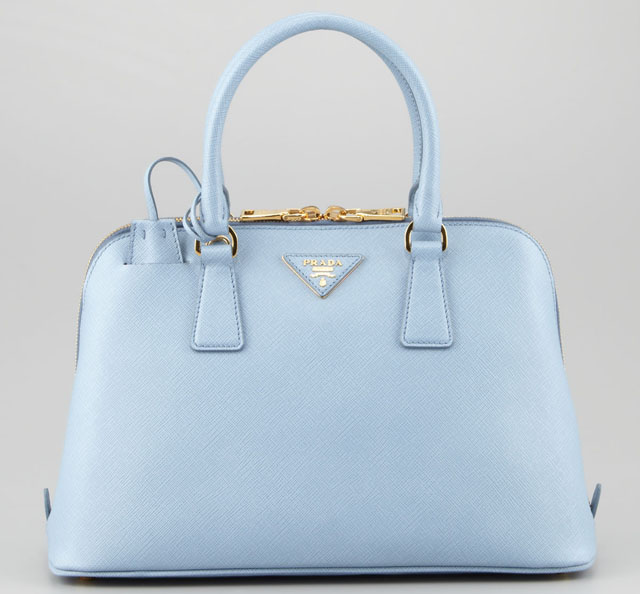 blue prada handbag - Latest Obsession: Tiny Prada Bags - PurseBlog