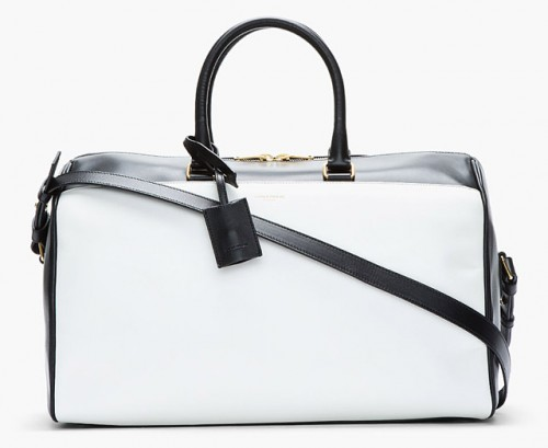 Saint Laurent Classic Duffel Bicolor Bag