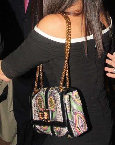 Sandra Bullock carries a Christian Louboutin Sweet Charity Snakeskin Bag in London (2)