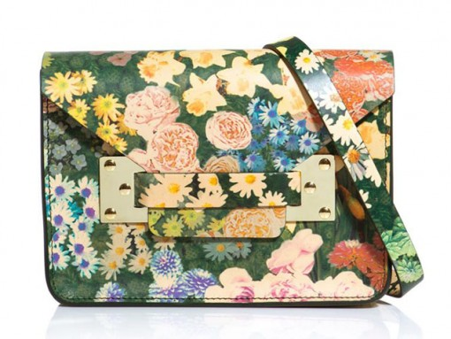 Sophie Hulme Floral Mini Envelope Clutch