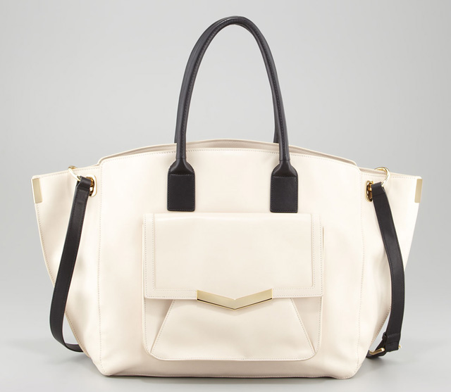 Time's Arrow Jo Leather Bicolor Pocket Tote