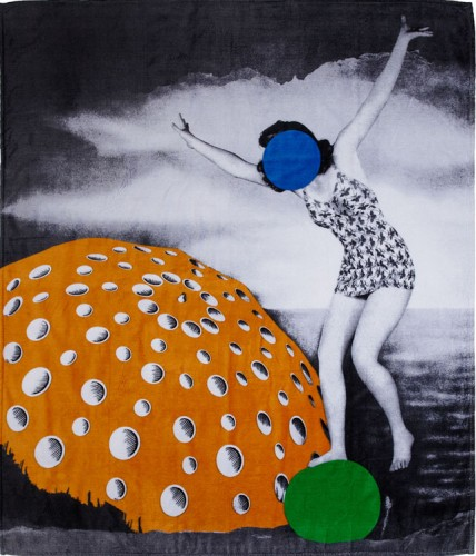 WOW! John Baldessari Double Beach Towel
