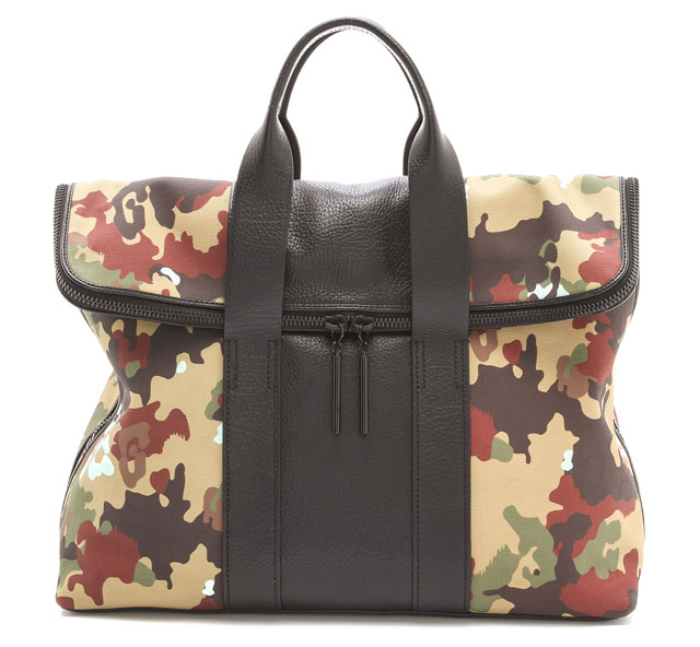 3.1 Phillip Lim Canvas 31 Hour Camouflage Bag