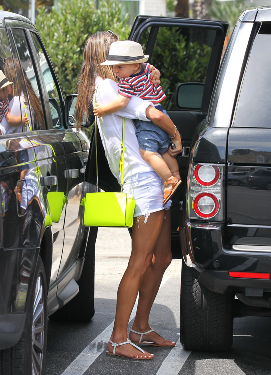 Alessandra Ambrosio carries a neon yellow MICHAEL Michael Kors Selma Messenger Bag (2)