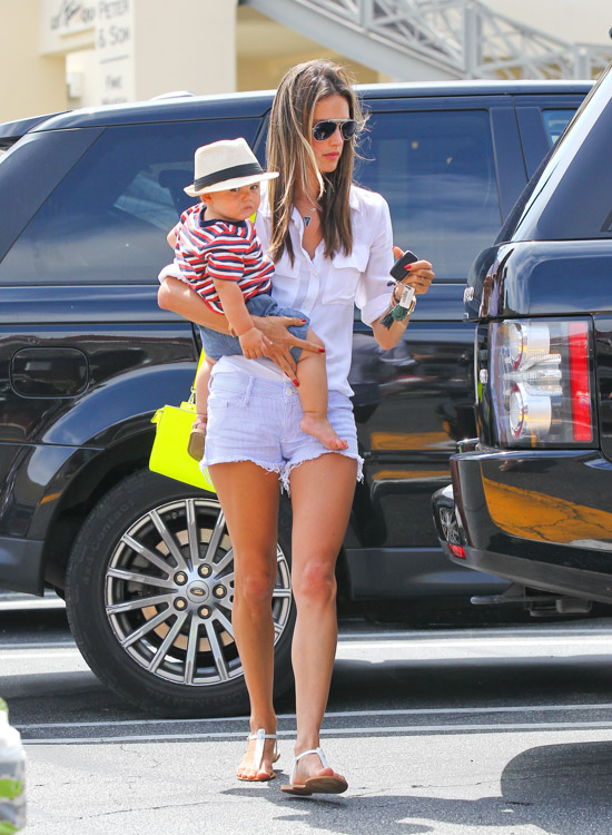Alessandra Ambrosio carries a neon yellow MICHAEL Michael Kors Selma Messenger Bag (1)