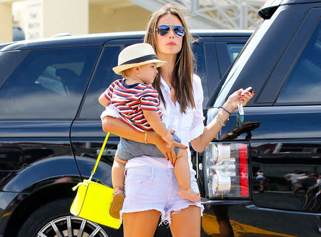 Alessandra Ambrosio carries a neon yellow MICHAEL Michael Kors Selma Messenger Bag (5)