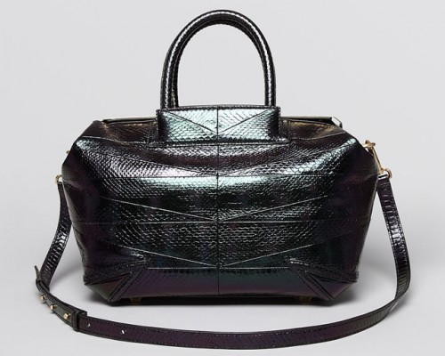 B Brian Atwood Sophia Watersnake Metallic Doctor Bag