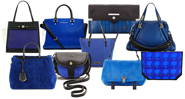Get Black And Blue With Fall's Best Bag Color Combo - PurseBlog