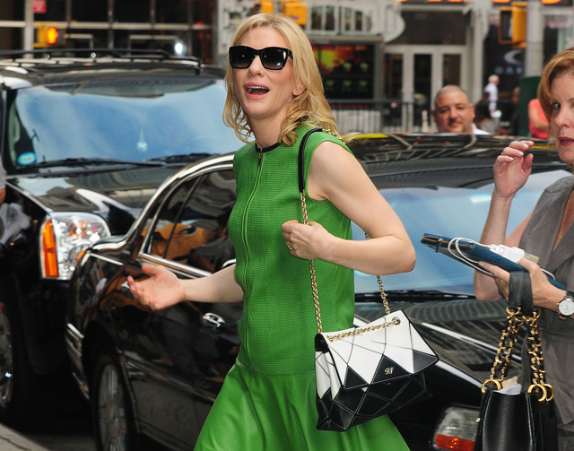 41fcb838f0 Cate Blanchett Looks Elegant As Always With A Roger Vivier Bag ...