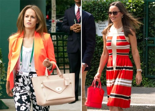 Celebrity Handbags at Wimbledon