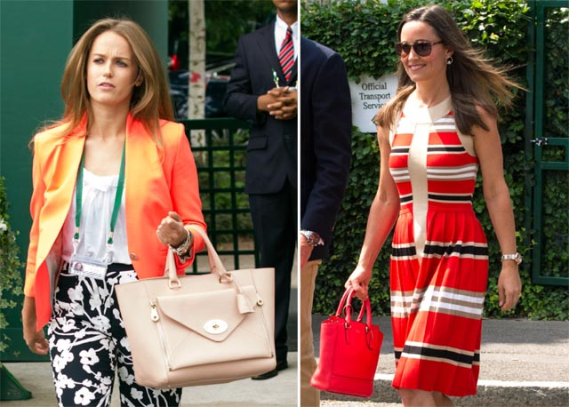 Celebrity Handbags at Wimbledon