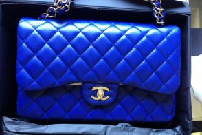 Chanel Blue Classic Flap Bag