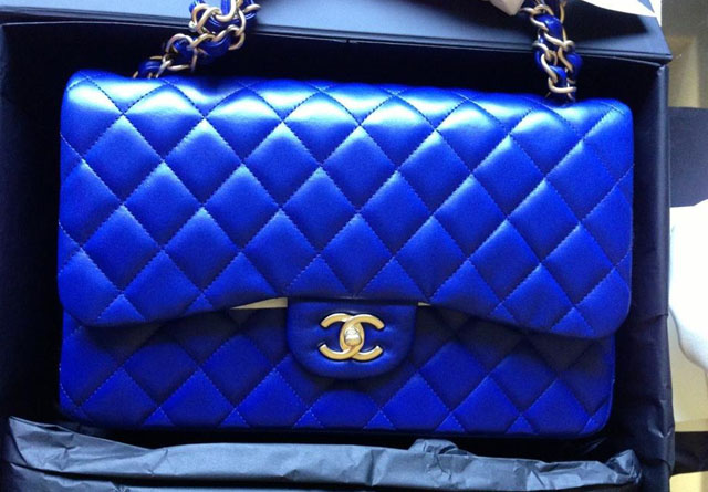cf782c143b1b7d Chanel Blue Classic Flap Bag - PurseBlog