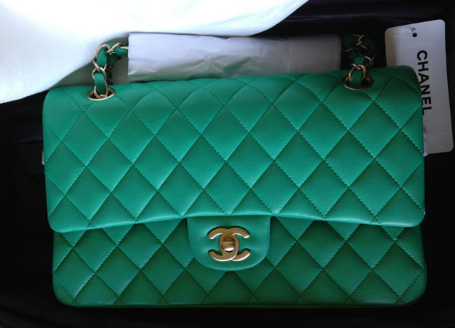 Chanel Green Classic Flap Bag