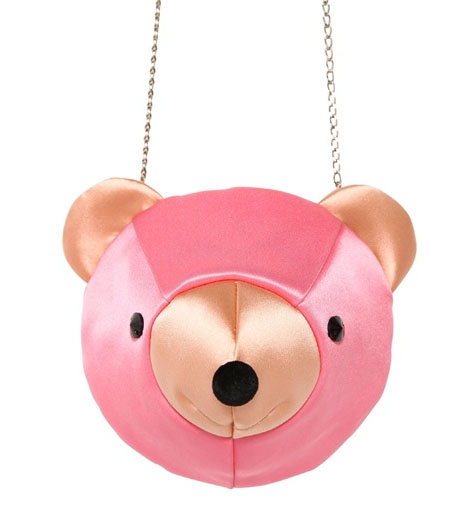 Charlotte Olympia Ted Silk Bear Clutch Pink