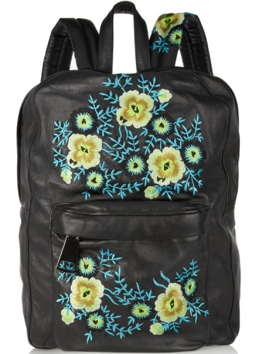 Christopher Kane Embroidered Leather Backpack