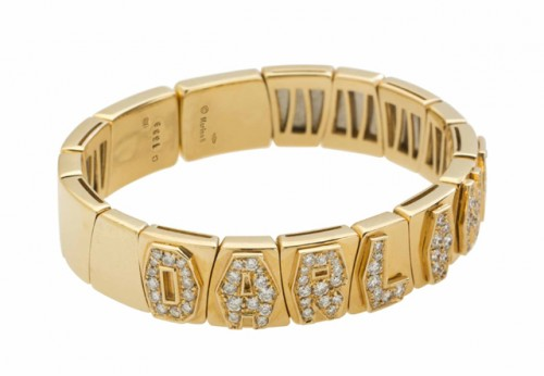 Diamond and Gold Bangle Bracelet