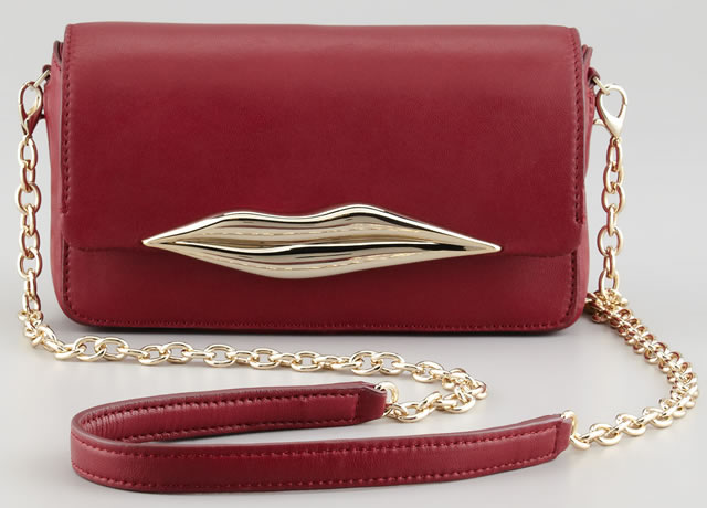 Diane von Furstenberg Flirty Leather Mini Crossbody Bag