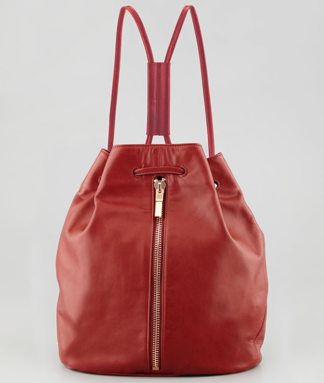 Elizabeth and James Leather Drawstring Sling