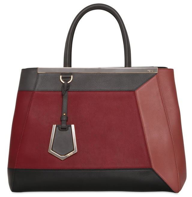 Fendi 2Jours Color Blocked Leather Bag