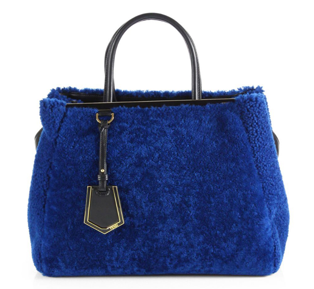 Fendi 2Jours Small Shearling Satchel
