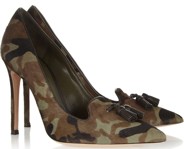 Gianvito Rossi Camouflage Calf Hair Pumps