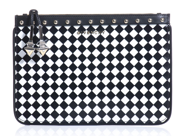 Givenchy Woven Check Pouch Bag