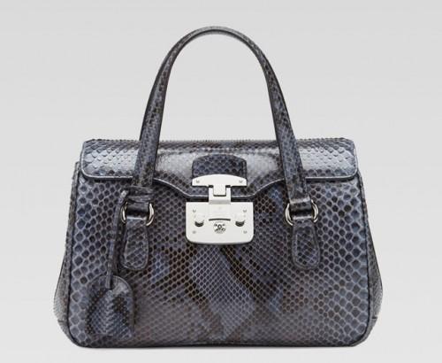Gucci Lady Lock Python Top Handle