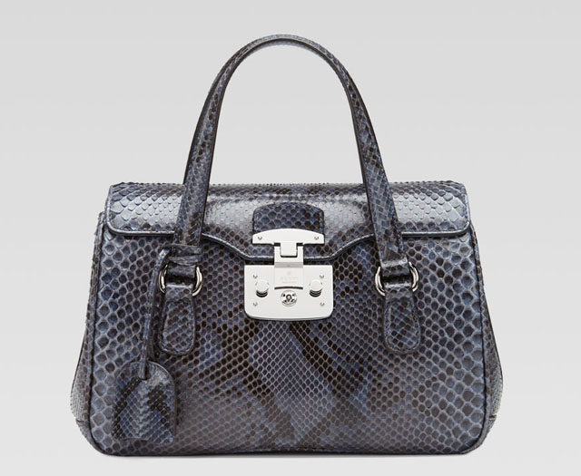 Gucci Lady Lock Python Top Handle