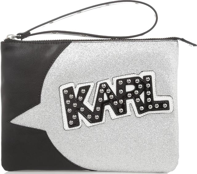 Karl Lagerfeld x Tokidoki Faux Leather Pouch Clutch