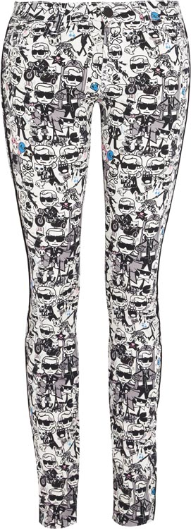 Karl Lagerfeld x Tokidoki Printed Jeans