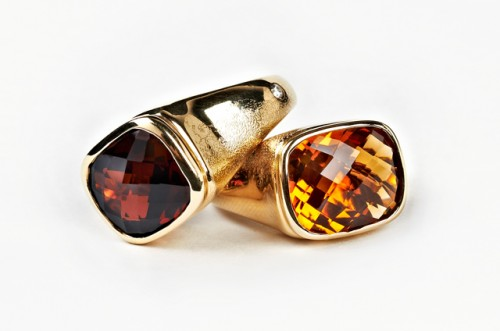 Keemee by Olivia Wildenstein Citrine and Diamond Bonbon Ring