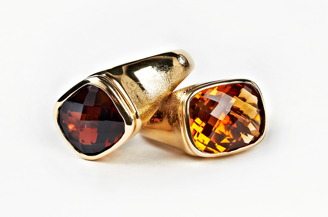 Keemee by Olivia Wildenstein Citrine and Diamond Bonbon Ring