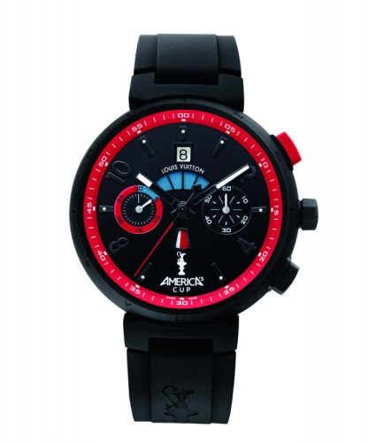 Louis Vuitton America's Cup Watch Black and Blue