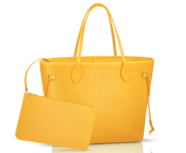 Louis Vuitton Epi Neverfull Bag Citron