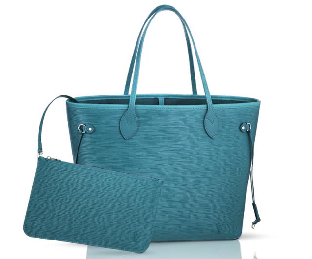 Louis Vuitton Epi Neverfull Bag Cyan