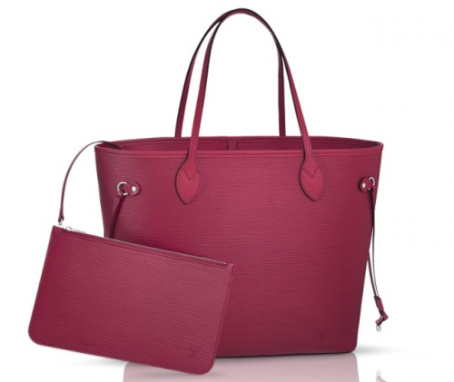 Louis Vuitton Epi Neverfull Bag Fuchsia
