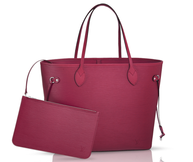 Louis Vuitton Epi Neverfull Bag Fuchsia