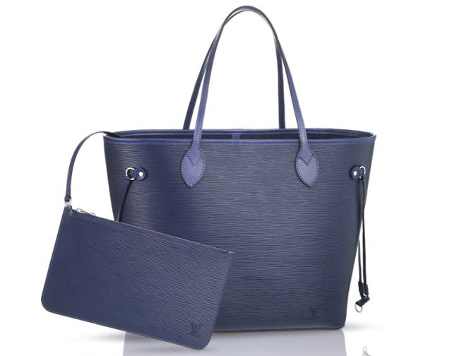 Louis Vuitton Epi Neverfull Bag Indigo