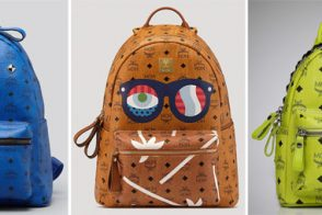 MCM Logo Backpacks