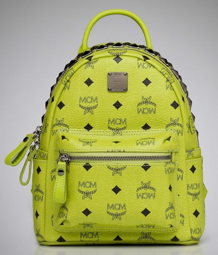 MCM Logo and Studs Small Backpack