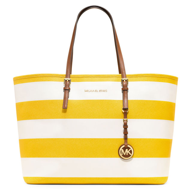 MICHAEL Michael Kors Jet Set Striped Travel Tote