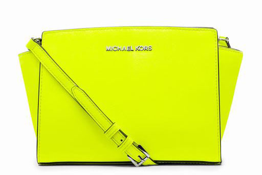 MICHAEL Michael Kors Selma Neon Yellow Messenger
