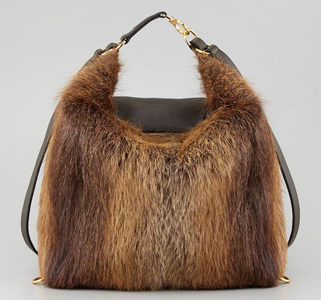 Marni 3-in-1 Convertible Fur Backpack