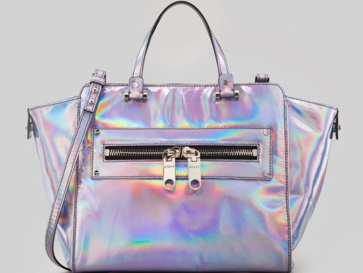 Milly Goes All-In On The Holographic Bag Trend